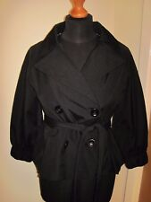 FULL CIRCLE MOD smock swing JACKET 10 black woman's