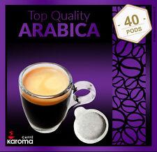 40 Italian Espresso Pods ESE.Top Quality 100% Arabica (Karoma)(Non GMO) 08/18