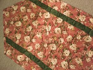 Handcrafted - Quilted Table Runner - Spring is Finally Here - Floral - SALE