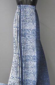 SONDERPREIS! HILCO 100 % Leinen OEKO-TEX Blau-Natur ab 50 cm wunderschön!