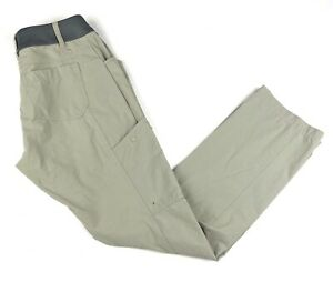 Simms Fishing Outdoor Mataura Pants Sz Small Quick Drying Nylon Tan Stretch
