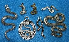 Pendant Snake Charm Reptile Antique Silver Charm Snake Connector