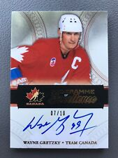 2011-12 Cup Wayne Gretzky Programme Of Excellence Team Canada Auto 7/10!