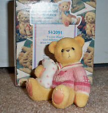 Cherished Teddies I Love Hugs 1999 Abbey Press Exclusive Girl Holding Pillow
