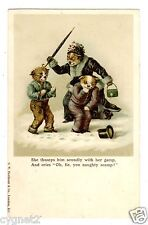 POSTCARD DOGS NAUGHTY SCAMP UNSIGNED COULDERY PUBLISHED FAULKNER
