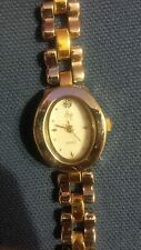 Vintage style SF brand ladies two tone two tone link watch