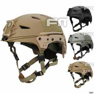FMA Tactical MIC FTP BUMP Helmet EX Airsoft Simple System Black/Sand/Gray