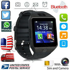 DZ09 Bluetooth Smart Watch Phone Mate GSM SIM Camera For Android IOS iPhone USA