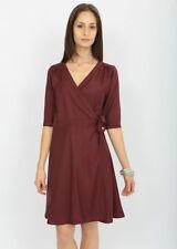 3/4 Sleeve Regular Size Wrap Dresses