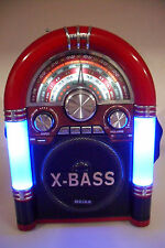 Bluetooth Radio Jukebox Vintage Rechargeable 110/220V AM/FM/SW1-2 USB MP3 SD/TF
