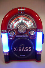 Poste Radio Jukebox Vintage Rechargeable 110/220V AM/FM/SW1/SW2 USB MP3 SD/TF