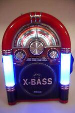 Poste Radio Jukebox Vintage Rechargeable 110/220V AM/FM/SW1/SW2 USB MP3 SD/TF