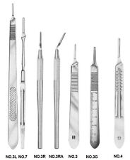 2 O.R GRADE ASSORTED SCALPEL KNIFE HANDLES SURGICAL VETERINARY INSTRUMENTS