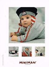 PUBLICITE ADVERTISING 025  1999  MINIMAN  bonnet vetements bébé