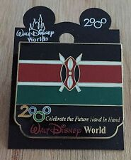 Millennium Village WDW Flag Pin Kenya Pavilion 2000 Disney Pin