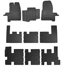 Gummifußmatten für Ford Transit Custom 8-Sitzer 2+3+3 2012-2018 Passgenau