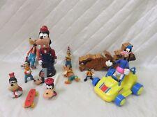 Vintage Goofy Disney Toy Figures Lot Ornament Car Puzzle Bubbles More