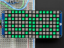 "16x8 1.2"" LED Matrix + Backpack - Ultra Bright Square Green LEDs"