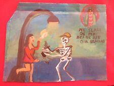 Mexican Folk Art Miguel Hernandez Skeleton Propositions Prostitute Funky Ex Voto