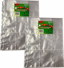 Trading Card Album Binder Plastic Protector Pages Sleeves 9 Pocket x 100 Sheets