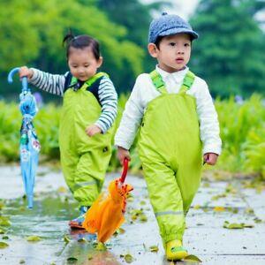 Kinder Baby Wasserfest Hose Wathose Gartenleuchte Kind Regenfest Jungen Mädchen