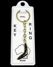 Australian Made Souvenir Key Ring Boomerang Australia Gold Opal Chip Keyring