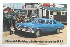 1972 CHEVROLET NOVA ORIGINAL DEALERSHIP SALES & CAR INFORMATION POSTER MINT NEW!