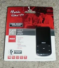 Sealed RCA M6504 4 GB Video Black MP3 Player FM Radio w/ 1.8 inch Color Display