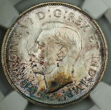1941 Canada 50c Half Dollar, NGC MS-62, *Toned* Silver Coin