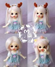 "3-4"" 9-10cm BJD fabric fur wig Smoke Pink for AE PukiFee lati 1/12 Doll"