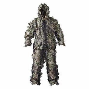 HOT SHOT Men's 3-D Leafy 2-pc Suit, Woodland Camo – Camouflage Hunting Suit