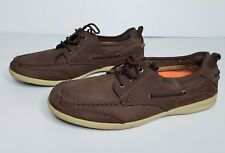 Merona Men's Size 12 Brown Boat Shoes Summer Slip On Casual Laces