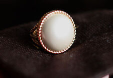 KATE SPADE SPECIAL ROPED IN LARGE PEARL MABE STATEMENT COCKTAIL RING 6
