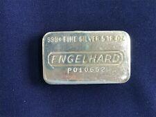 Engelhard Five Ounce Old Poured Type Silver Art Bar   E6605