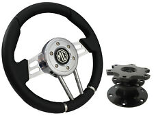 QUICK RELEASE BLACK V2 SPORTS STEERING WHEEL 310mm 6x70mm - MG,