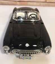 Burago Chevrolet Corvette 1957 Made in Italy 1/18 Scale Diecast Black