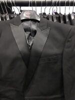 """MENS or older boys Black tuxedo Suit dinner JACKET  36"""" chest, NEW Butler & Webb"""