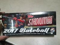 2017 Topps Stadium Club Baseball Hobby 16 Pack Box (Factory Sealed) New