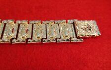 "Mary 9"" Heavy Nugget Bracelet-190 Mens 14 Kt Gold Hge Virgin"