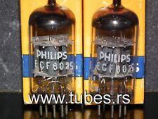 ECF802 Mullard Blackburn rebranded Philips Platinum Matched Pair NOS NIB 6JW8