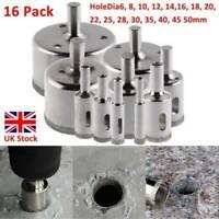 16Pcs Diamond Holesaw set Holes Saw Drill Bit Cutter Tile Glass Porcelain Marble