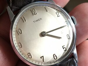 Vintage 1963 Timex Mercury Series Mechanic Men's Watch Serviced New Strap