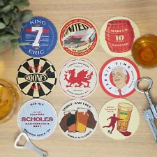 More details for man united football beer mats x9