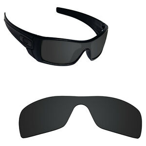 Scratch Proof Polarized Replacement Lens for-Oakley Batwolf Sunglass Black
