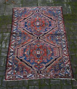 schöner alter Teppich Orientteppich handgeknüpft 212x146 cm t15