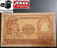 100 lire - ITALY - 1951 - FREE SHIPPING WORLDWIDE