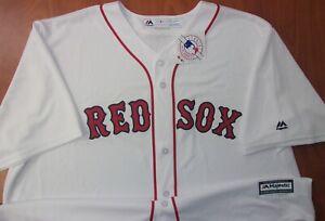 Majestic Boston Red Sox Baseball Authentic Stitched Cool Base Jersey 2XL ~NWT~