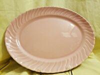 "Vintage Franciscan Ware Coronado Swirl Coral Large Oval Platter 13"" USA"