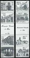 MEXICO Colonial Monument #1303-1306a #1338-1341a Stamps Postage Strips Mint NH