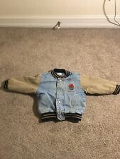 Vintage Boys Sesame Street Denim Jacket Embroidered Super Rare Size 3T